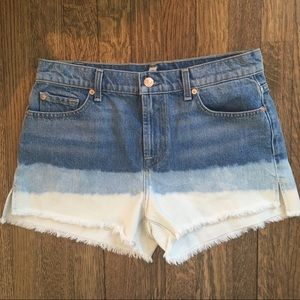 7 for all Mankind Ombré Cotton Jean Shorts Sz 28